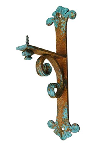Shoreline Small 5''D x 14''L Heavy Duty Decorative Forged Wrought Iron Mantel Bracket-Old Copper by Shoreline Ornamental Iron