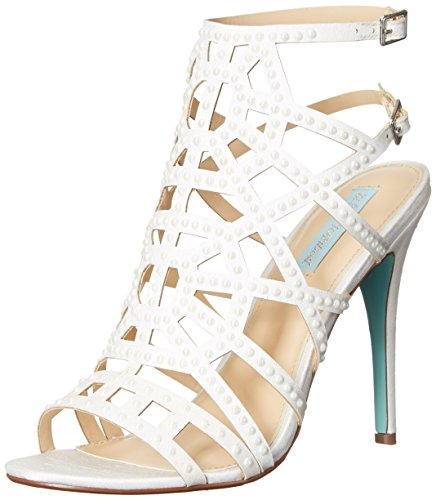 Blue by Betsey Johnson Women's SB-Corey Dress Sandal, Ivory Satin, 6 M US by Betsey Johnson