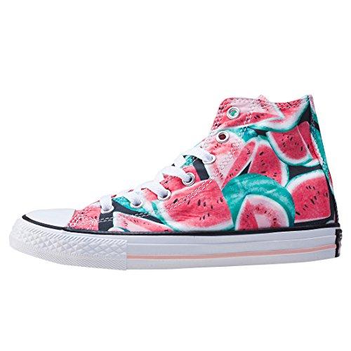 Converse Hi Calzado rosa turquesa