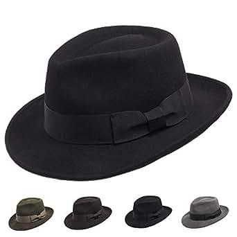 Ultrafino Brooklyn Crushable Wool Felt Fedora Dress Hat at Amazon ... 008fe4221661