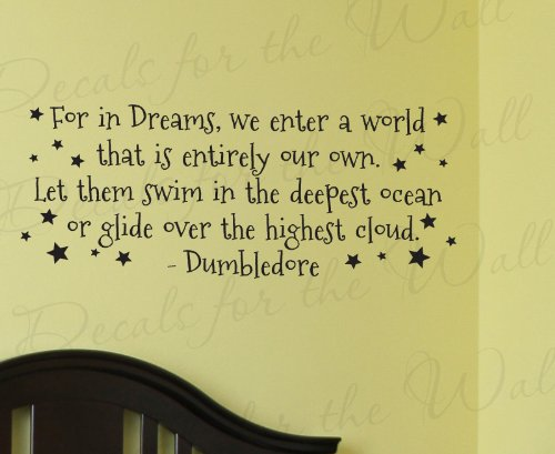Dumbledore Harry Potter - Girl's or Boy's Room Kids Baby Nursery - Decorative Vinyl Lettering, Large Wall Decal Saying, Decoration Quote, Sticker Art Letters Decor