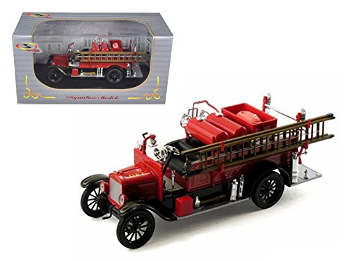 StarSun Depot 1926 Ford Model T Fire Engine Red/Black 1/32 Model Car by Signature Models