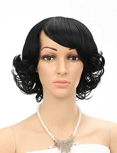 Fani Short Curly Wig Full Head Cosplay Wig With...