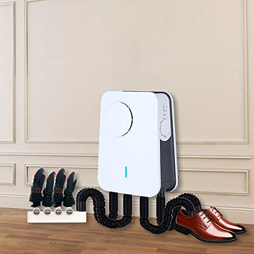 Wall-Mounted Electric Shoe Boot Dryer Triple Protection Constant Temperature Function Timed Power Off High and Low Double File Foldable Heater Warmer Footwear for Drying Shoes Boots Gloves