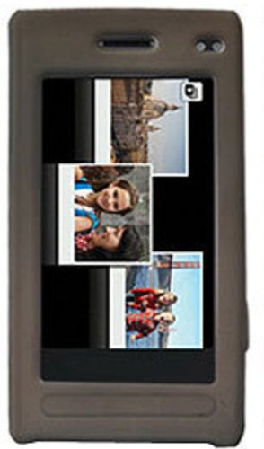 Amzer Silicone Skin Jelly Case for Samsung Memoir T929 - Gray ()