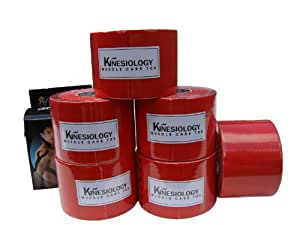 6x Red Rolls 3NS Sports Tape Kinesiology Taping