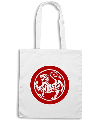 Borsa Shopper Bianca TAM0125 MA SHOTOKAN TIGER STITCH RED