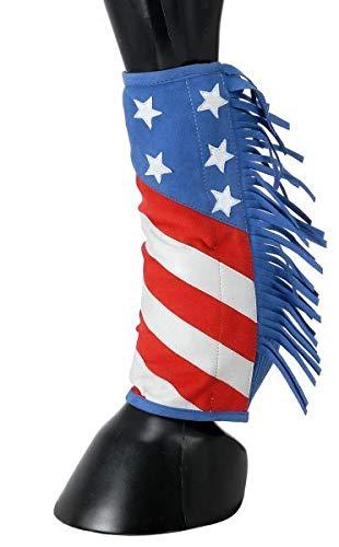 Tough-1 Sport Boot Covers w/Fringe Patriotic