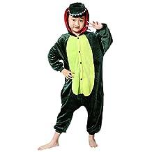 XMiniLife Green Dinosaur Kids Animal Cosplay Onesie