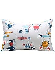 UOMNY Kids Toddler Pillow and Pillowcases 100% Cotton Pillow Caver Pillowslip Case
