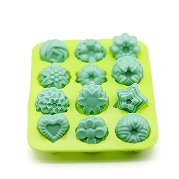 E2o Tech Flor molde de Jabón de silicona jabón Moldes Simple DIY molde de silicona tarta de silicona molde de 12 Cavidad: Amazon.es: Hogar