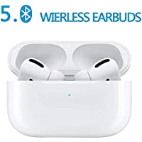 Bluetooth 5.0 True Wireless Earbuds in Ear Bluetooth Headphones with 3D Stereo IPX5 Waterproof Pop-ups Auto Pairing for Earphone Apple Airpods Pro/Airpods/Airpod/Samsung
