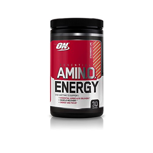 Optimum Nutrition Amino Energy with Green Tea and Green Coffee Extract, Flavor: Strawberry Lime, 30 Servings
