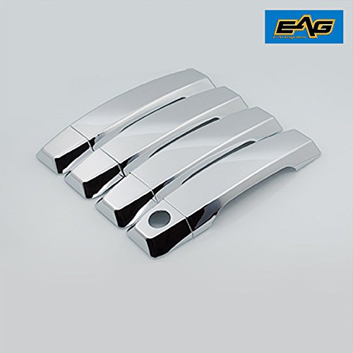 - EAG 04-15 Nissan Titan 4 Door Handle Cover ABS Triple Chrome Plated without Passenger Key Hole (64-0404)
