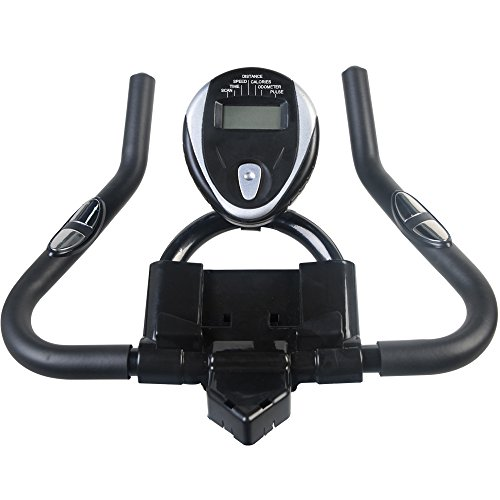 pooboo Indoor Cycling Bicycle, Belt Drive Indoor Exercise Bike,Stationary Exercise LCD Display Bicycle Heart Pulse Trainer Bike Bottle Holder by pooboo (Image #7)