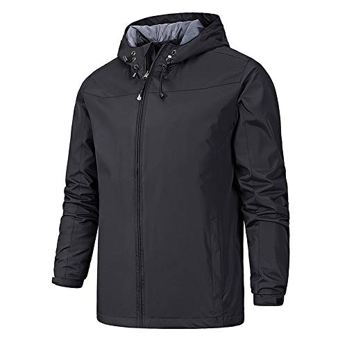 Waterproof Black Men's Cagoule Jacket Softshell with TFENG Hood f1qAxT