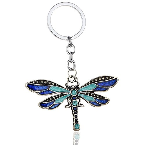 - Urberry Cute Dragonfly Keychain for Womens Bag or Cellphone or Car Pendant (Blue)