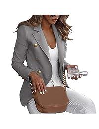 Chad Hope Women Long Sleeve Blazer Suit Coat Casual Suit Solid Color Office Lady Business Work Jacket Suit