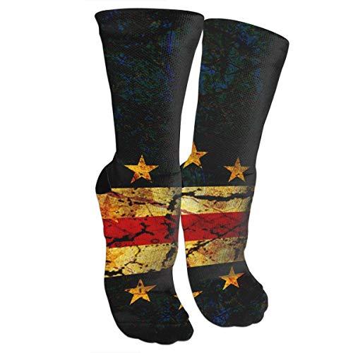 Vintage Cape Verde Flag Novelty Crazy Crew Tube Socks for Men Women - Running, Hiking, Yoga, Travel (Cape Socken)