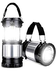 Odoland LED Laterne, 2-in-1 Camping Laterne Taschenlampe LED 300lm, Wasserdichte Campinglampe Campingleuchte Zeltlampe Notlicht Notfalllampe, tragbar für Camping Outdoor Wandern