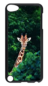 Brian114 Case, iPod Touch 5 Case, iPod Touch 5th Case Cover, Cute Animals Giraffe 21 Retro Protective Hard PC Back Case for iPod Touch 5 ( Black )