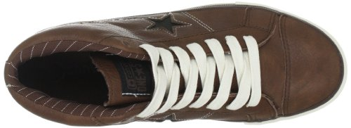 8b3224c9c76d87 ... Converse One Star Mid Leather Pinecone Black 126832C - Zapatillas  fashion de cuero para hombre ...
