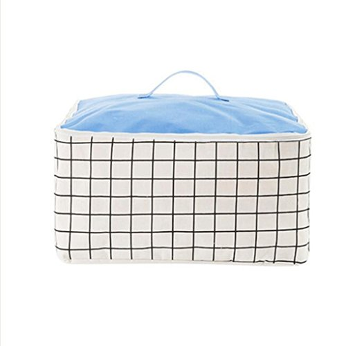 YYF Panier de rangement Boîte de rangement pour ménage Vêtements Sac à provisions imperméable portable Sac à bagages ( Couleur : B , taille : Les petites )