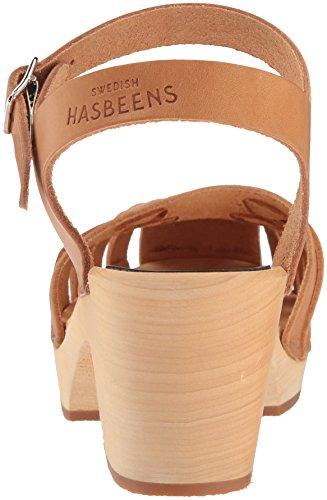 Swedish Hasbeens Damen Slang Sandaal Klompen Bruin (natuur)