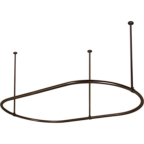 Barclay 7152-72-PB 72 Inch Oval Shower Curtain Ring In Polished Bras