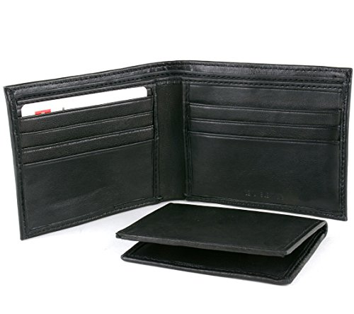 Alpine Swiss Mens Leather Wallets Money Clips Card Cases 6 ...