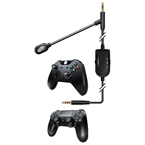 (dreamGEAR BoomChat Detachable Cable + Boom Mic - Xbox One, Playstation 4, Nintendo Wii U, Android & Windows by dreamGEAR)