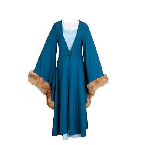 Catelyn Stark Costume (1stvital Catelyn Stark Cosplay Costume Halloween Coat Outfit Child L)