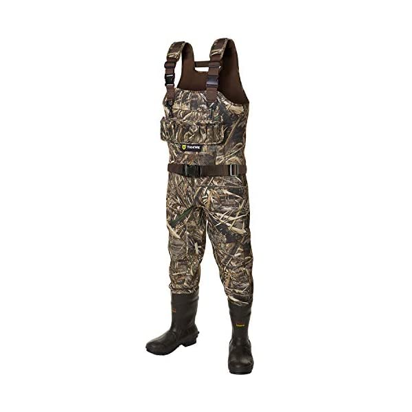 5MM waterproof neoprene insulated thermal fishing chest wader  with rubber boots