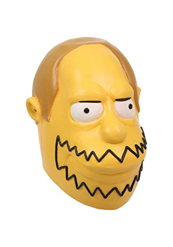 The Simpsons Comic Book Guy Mask Standard Yellow -