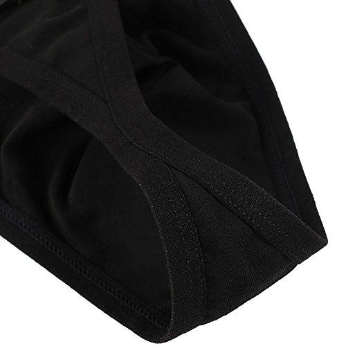 G Aimado Sous Noir Lot string Coton vêtements Homme 2 De Court Slip nqUxH01qzw