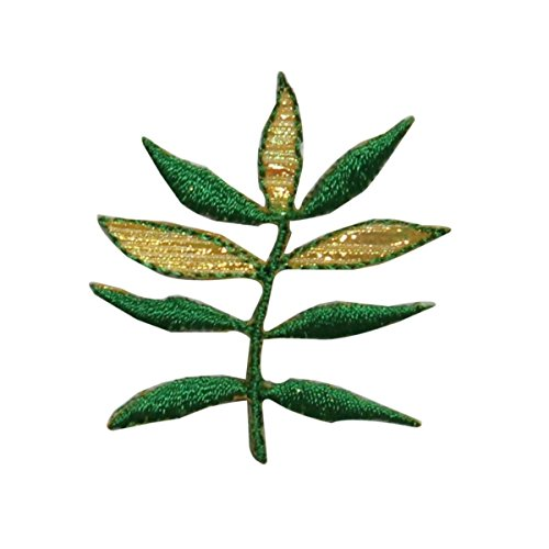 ID 7217 Fern Plant Leaf Patch Garden Nature Tree Embroidered Iron On (Fern Patch)
