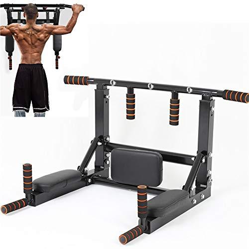 Sinbide Fitness optrekstang, goedgekeurd door de fitnessstudio, voor muur, pull-up bar, optrekstang, training en…