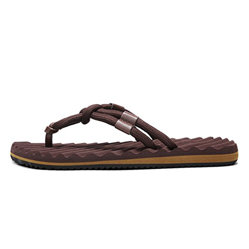 Flop Outdoor and Beach Men's Flip Indoor Redbrown Slipper Sandals LemonGirl Causal WxUY1nqx8