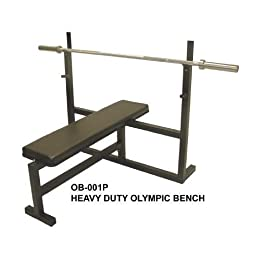 Olympic Bench Press w/ 7\' Bar, 255 Lb Plate Set & 2 Olympic Collars