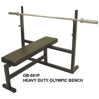 Amazon Com Olympic Bench Press W 7 Bar 255 Lb Plate