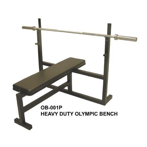 Olympic Bench Press w/ 7′ Bar, 255 Lb Plate Set & 2 Olympic Collars