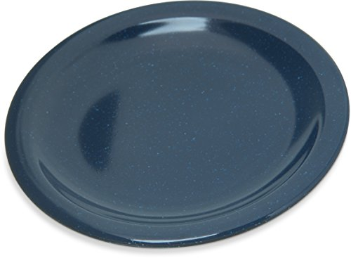 "Carlisle 4350535 Dallas Ware Melamine Bread and Butter Plate, 0.66 x 5.58"", Cafe Blue (Case of 48)"