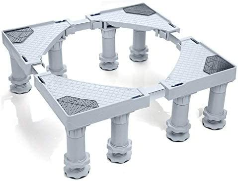 Ldlxyj Soporte para Lavadora Base Ajustable Multifuncional con Plataforma móvil de 8 pies Fuertes para Ruedas para Lavadora, Secadora y refrigerador, Gris: Amazon.es: Hogar