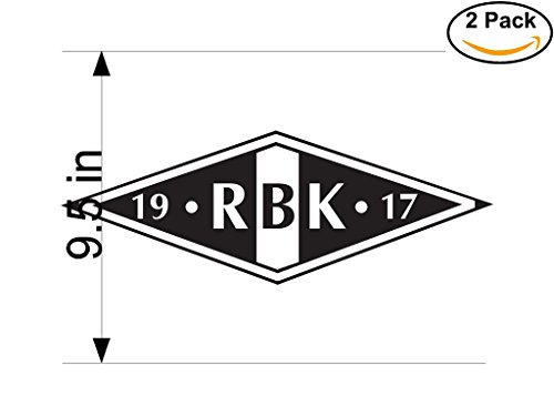 fan products of Rosenborg Norway Soccer Football Club FC 2 Stickers Car Bumper Window Sticker Decal Huge 9.5 inches