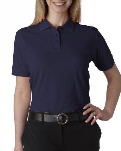 UltraClub 8530 Ladies Classic S-Sleeve Pique Polo Navy ()
