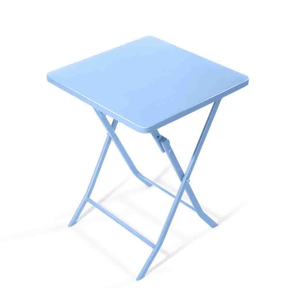 XIA 折り畳みテーブル アイアンアート小さなテーブルフォールド小さな正方形テーブル北ヨーロッパのシンプルなコーヒーラウンドテーブルバルコニー折り畳みダイニングテーブル 折りたたみテーブル (色 : Blue, サイズ さいず : 平方) B07F1QJNQR 平方|Blue Blue 平方