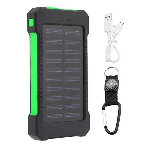 Ballylelly 30000mAh Dual USB Compact Portable Solar Power Bank Cargador de batería Teléfonos móviles Cargador de batería…