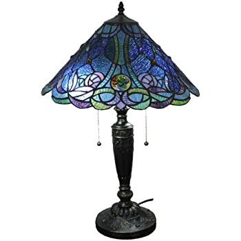 lamp tiffany style bhp stained glass inch butterfly bieye table ebay
