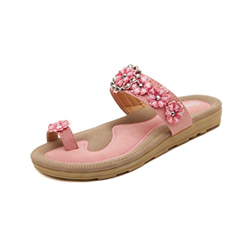 Jazlyn mehrfarbig Zehentrenner Pink Damen Mehrfarbig Flower 80Bqg8w