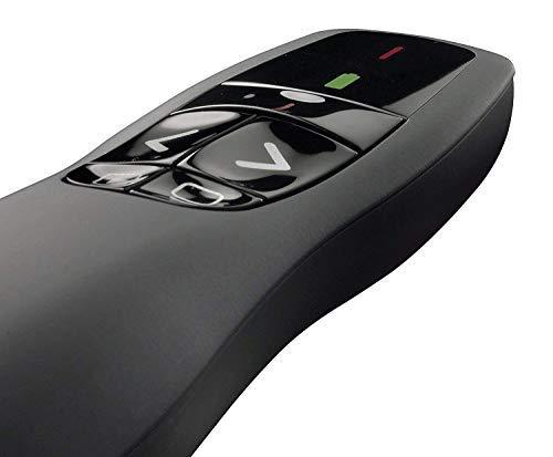 Logitech Wireless Presenter logitech clicker R400 with Red Laser Pointer 2.4 GHz (Long Range Laser Presenter) Remote Control USB Laser Pointer (Logitech Wireless Remote Control)
